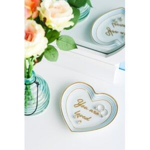 NEW Draper James You Are Loved Heart Trinket Tray